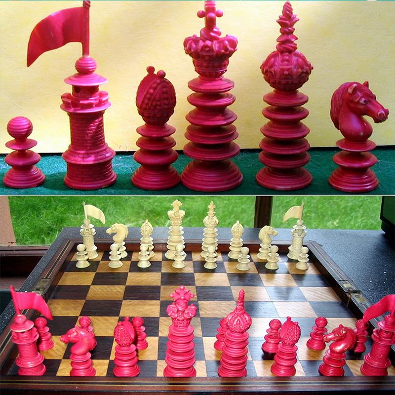 Hastilow mid 19thC. ivory chessmen