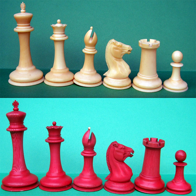 Jaques Morphy 1849-50 ivory Staunton set