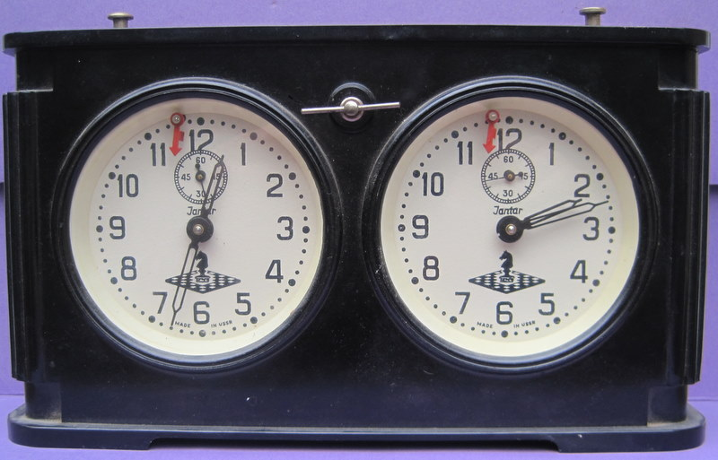 Soviet Jantar Chess Clock in Bakelite – 1950's