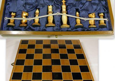 20th C. Chinese ivory Staunton chess sets