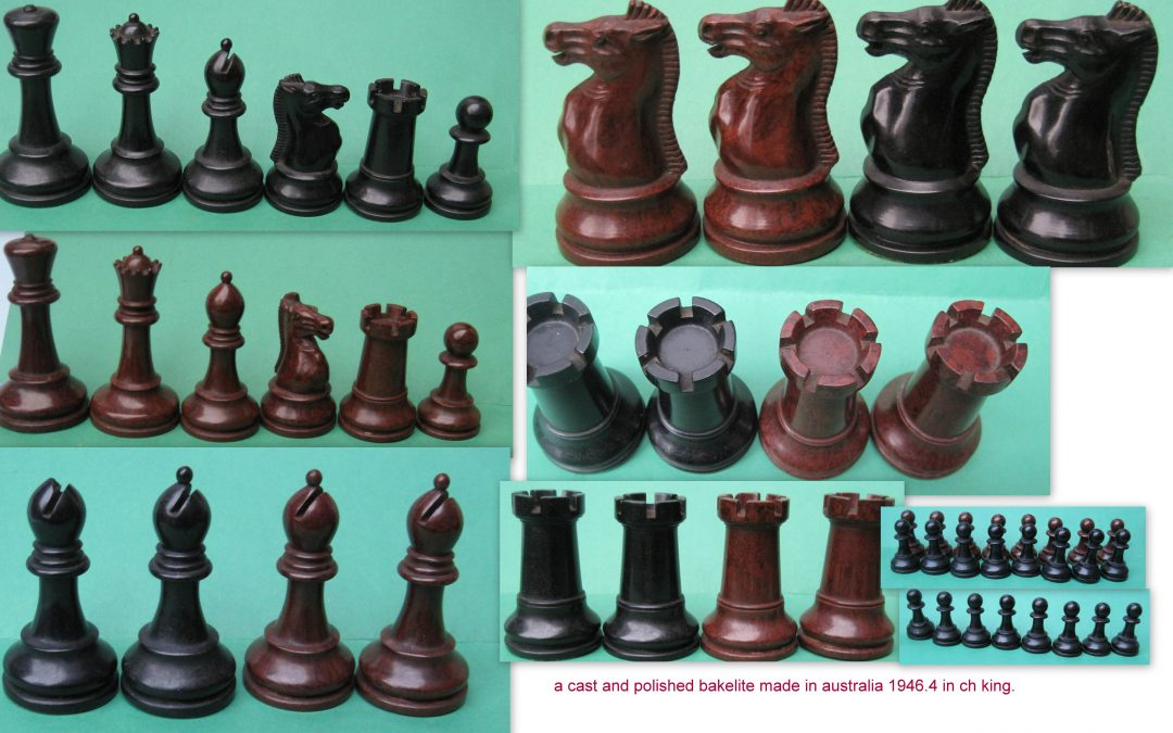 Bakelite Chess Set c.1946