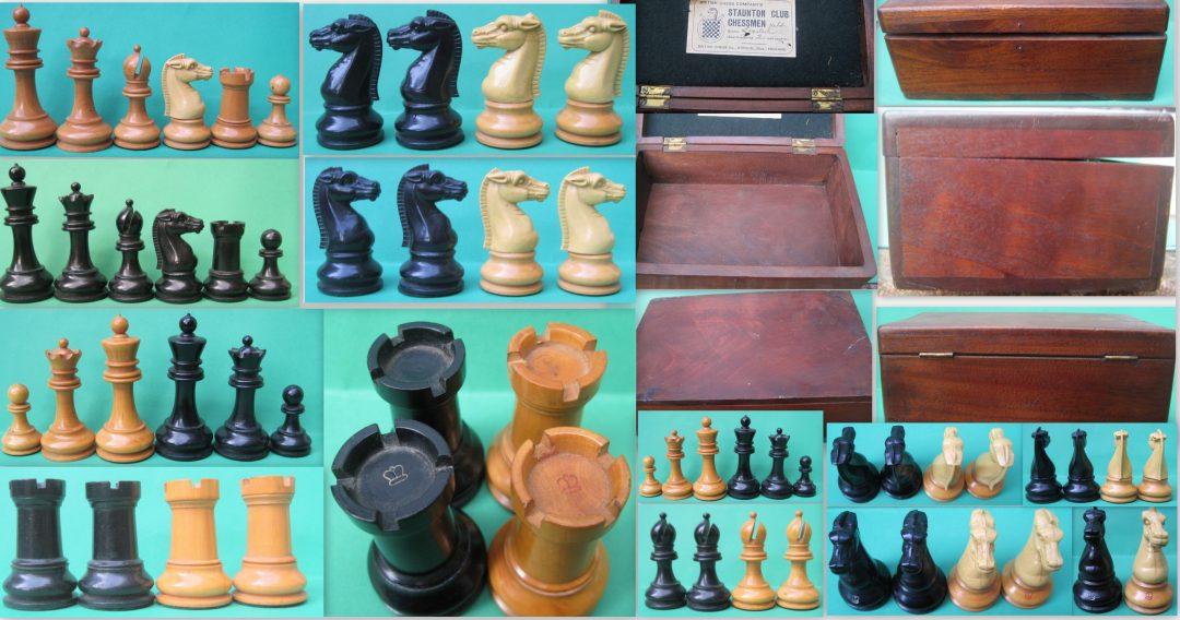 A BCC Staunton club size 4 chess set – 1899
