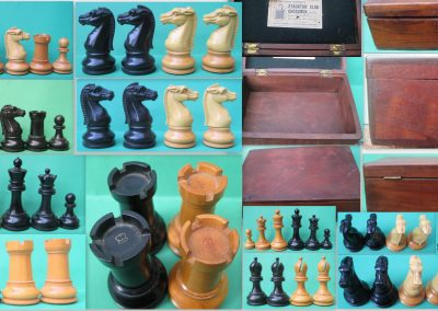 A BCC Staunton club size 4 chess set – 1899
