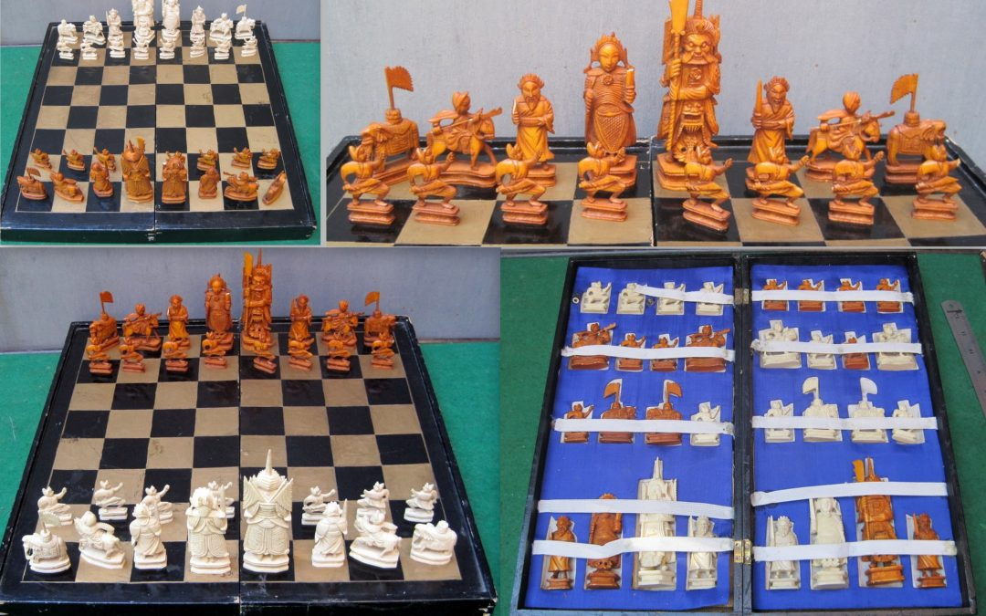 Post-1947 ivory chess sets