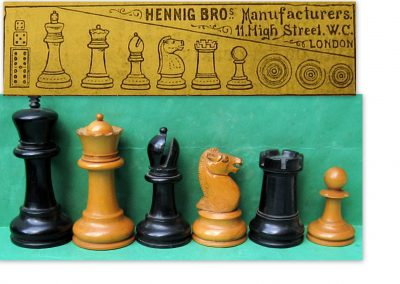 Possible Hennig Bros late 19th C. chess set?