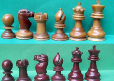 Ayres vegetable ivory chess set