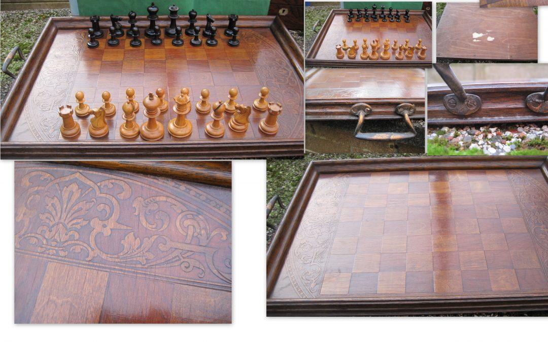 Early 20th century? chess tray
