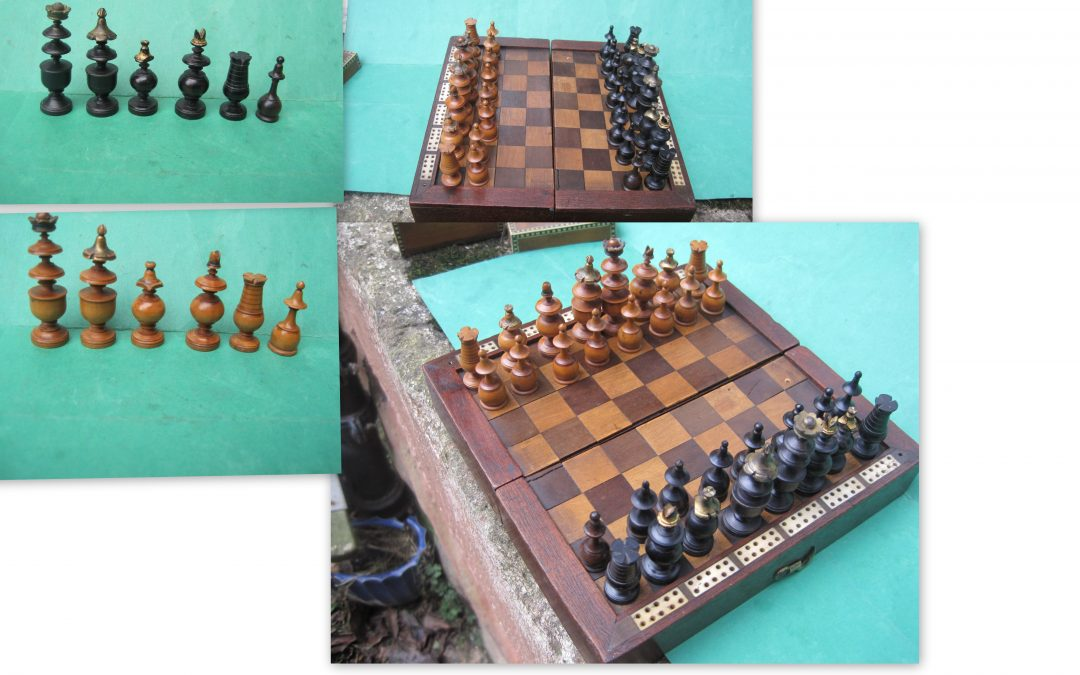 French Directoire chess set of small size – 18th century