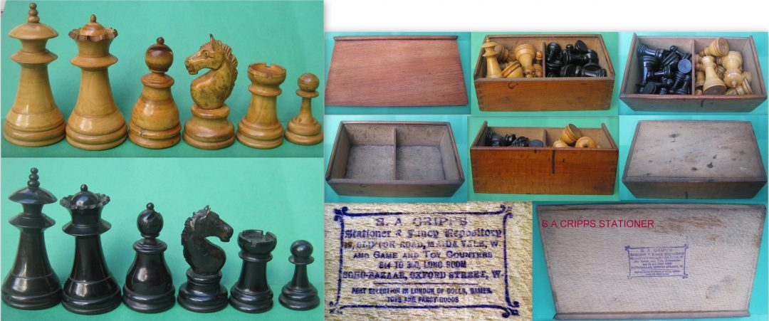 "French "" Friar Tuck"" Staunton chess set"