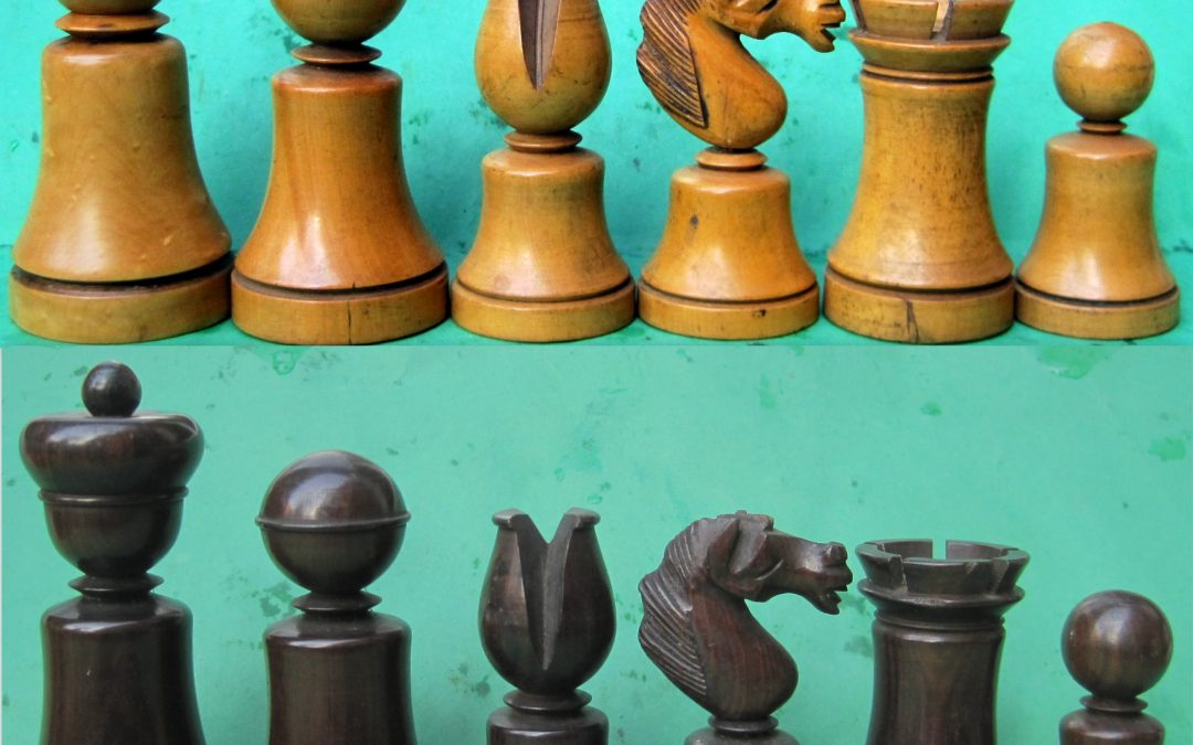 An early Dublin chess set
