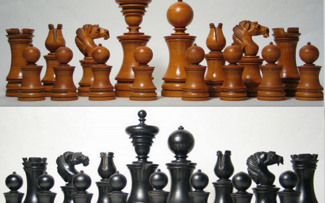 A Dublin chess set late 19th century
