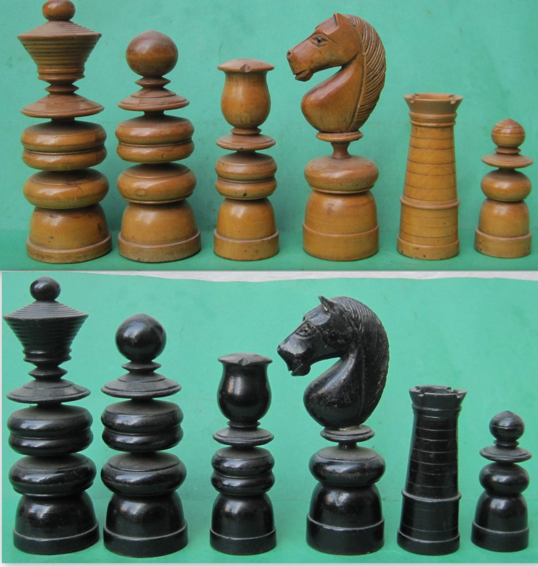 French St George chess set