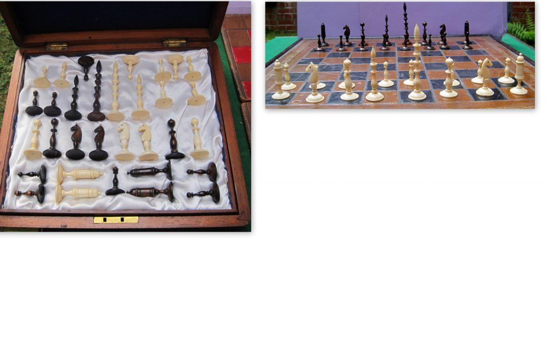 Nuremberg spindle bone chess set