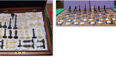 Nuremberg spindle bone chess set