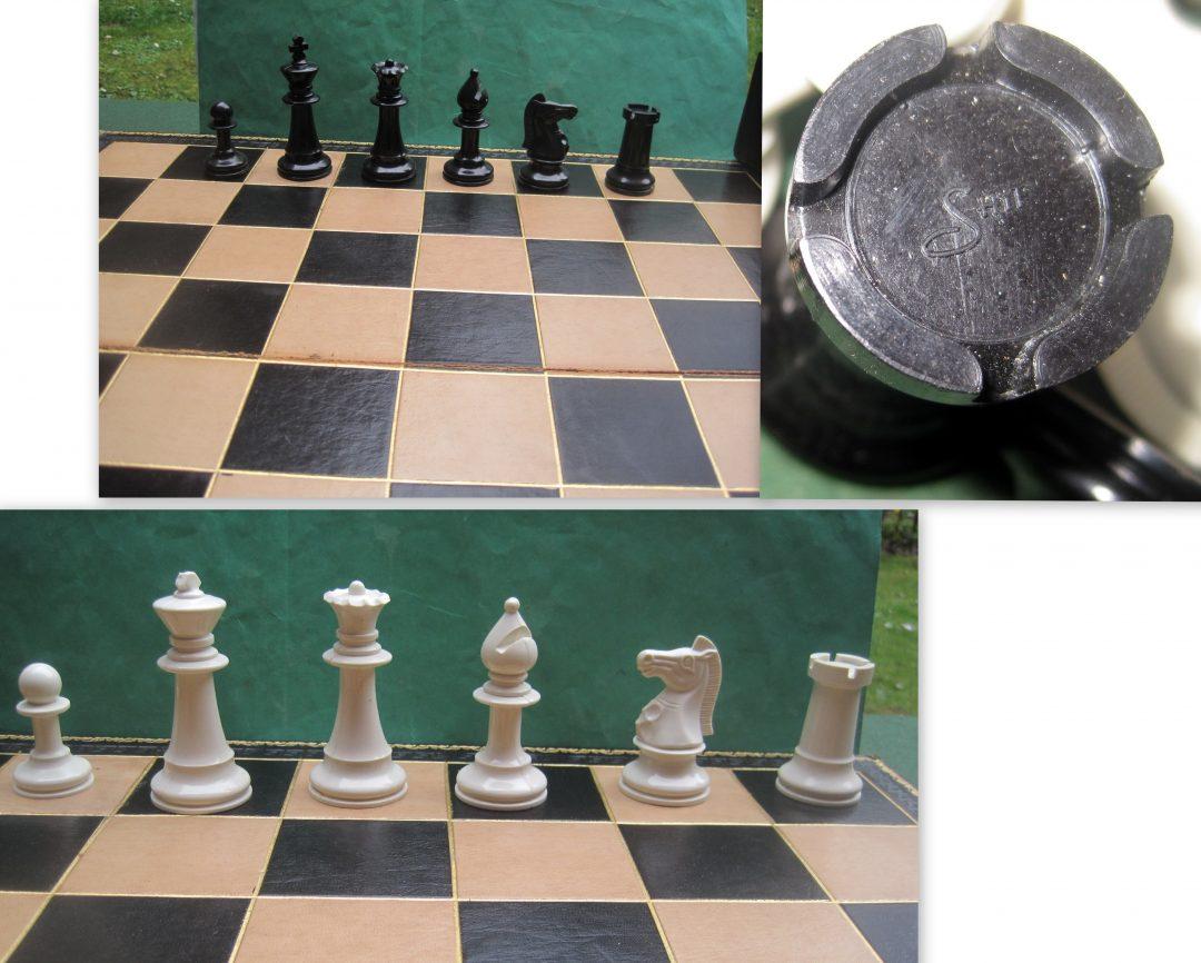 SHYF plastic chess set – 1950's?