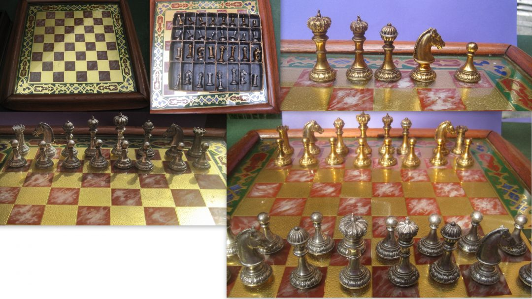 German silver plated chess set from 1896