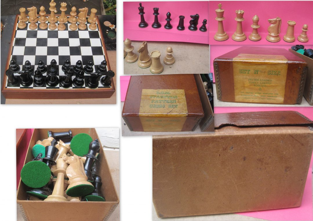 A 20 th century moulded plastic B C M chess set