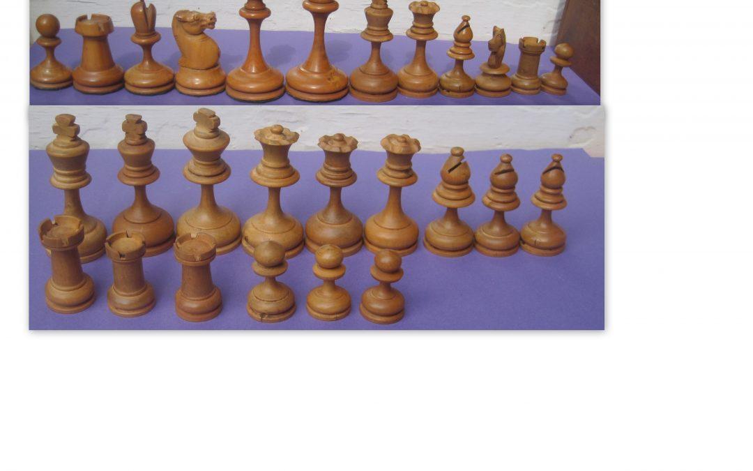 Slender French chess sets