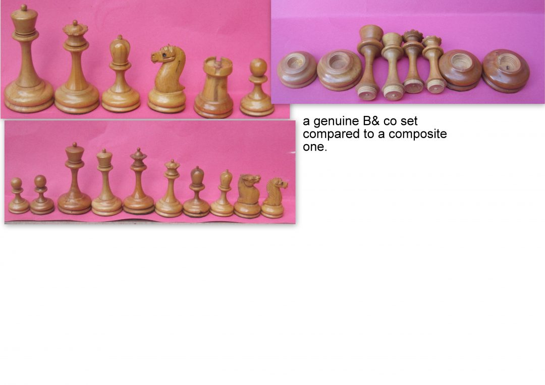 B&Co. wooden staunton chess set – 2nd half of 19th century