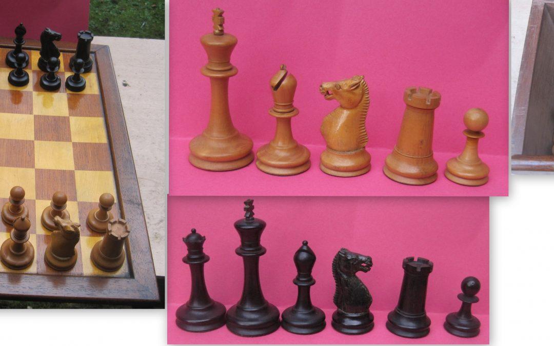 late 19th century weighted Staunton chess set
