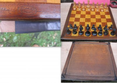 A late 19th century stamped chess board homas spellen