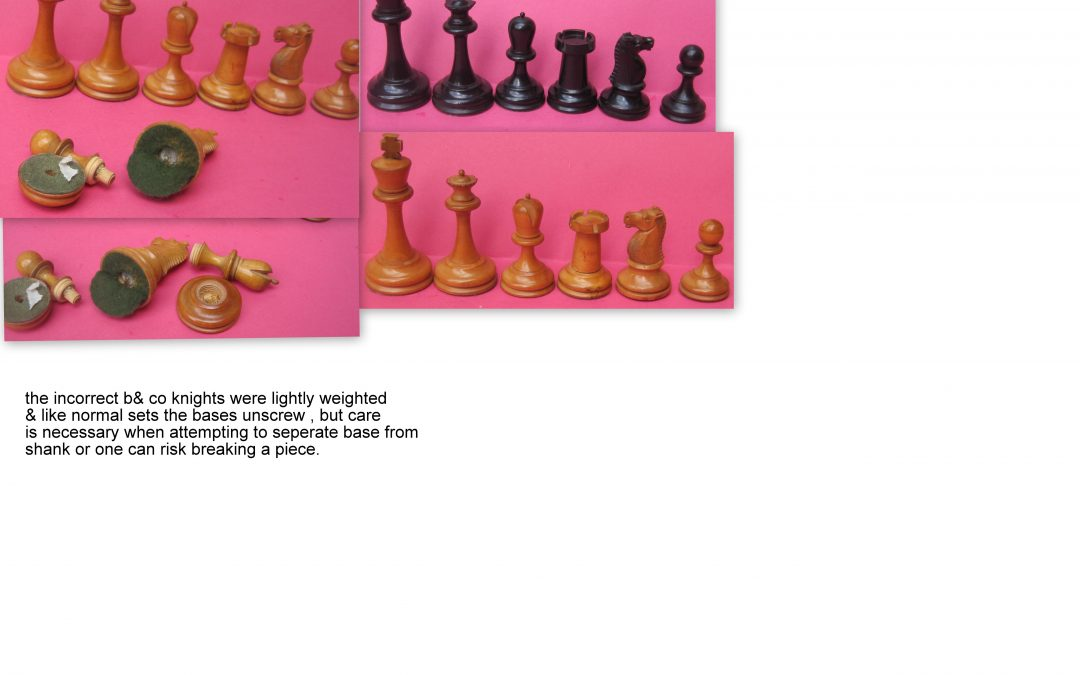 B&Co. chess set with incorrect knights – late 19th century