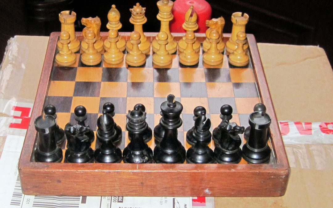 A small popular style chess set