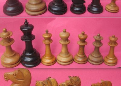 "Unknown English staunton chess set with ""shire horse"" knights"