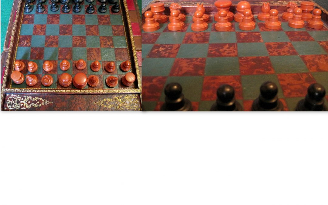 Small early plastic chess set