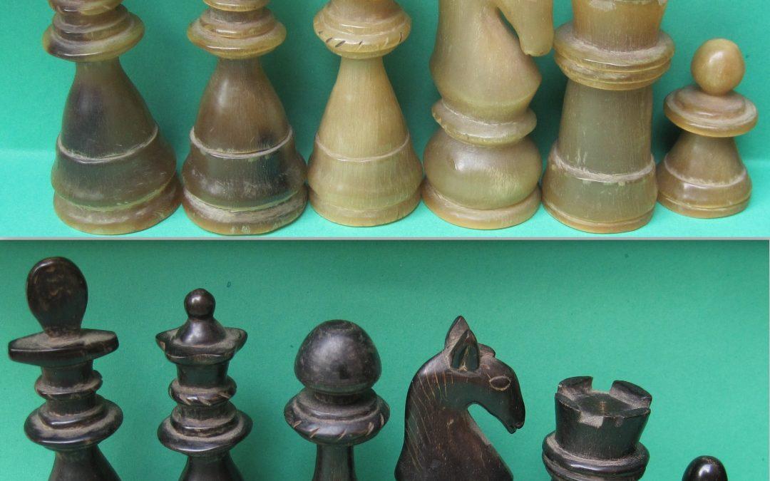 20th century horn chess set