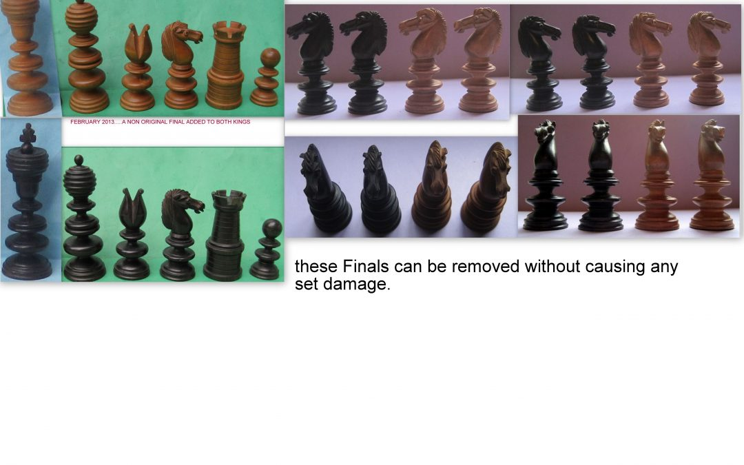 Scarce antique English pattern chess set early to mid 19th century
