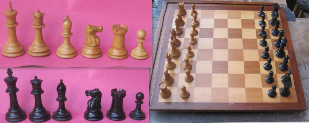 F H Ayres Staunton Chess Set – early 20th century