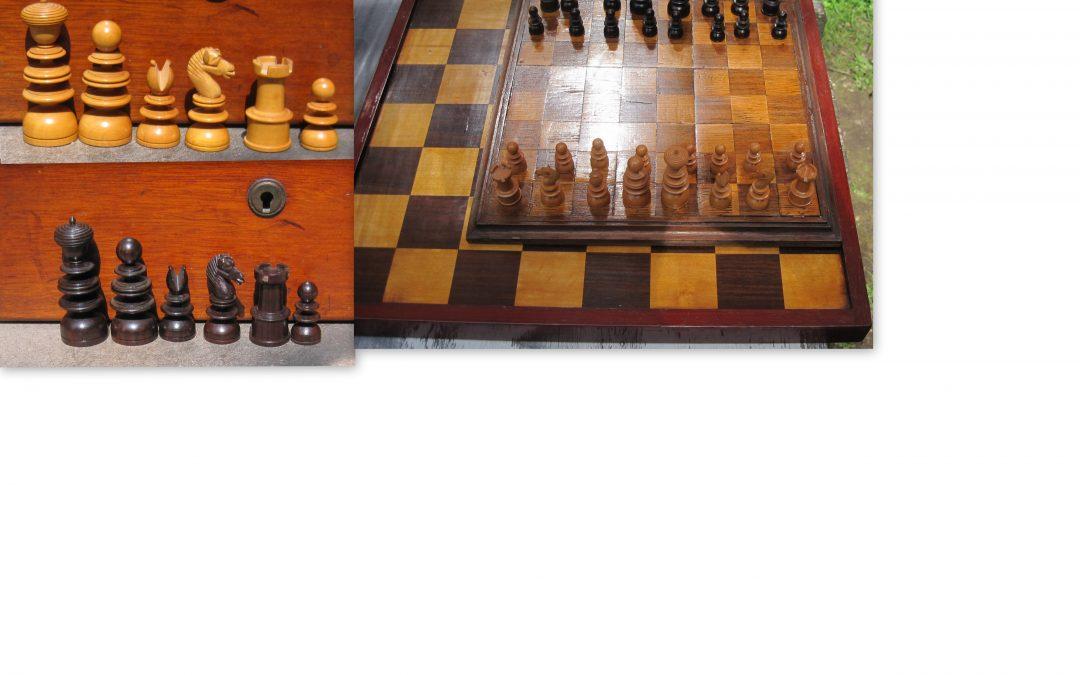 English pattern small chess set – late 19th century