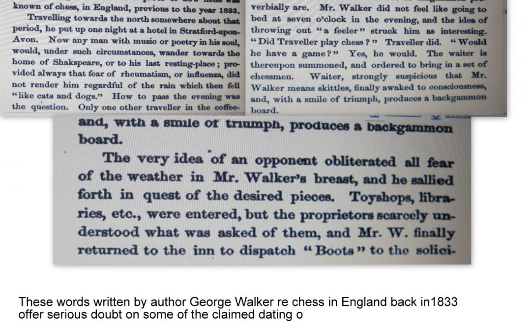 Some pieces of Chess History