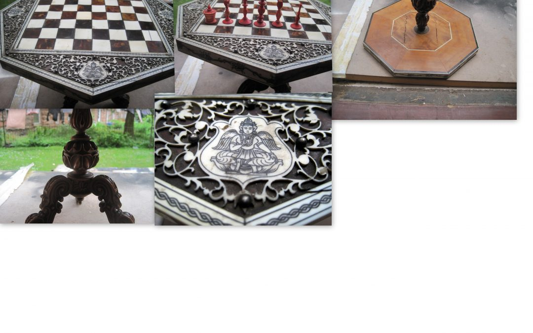 A 19th century Anglo Indian chess table