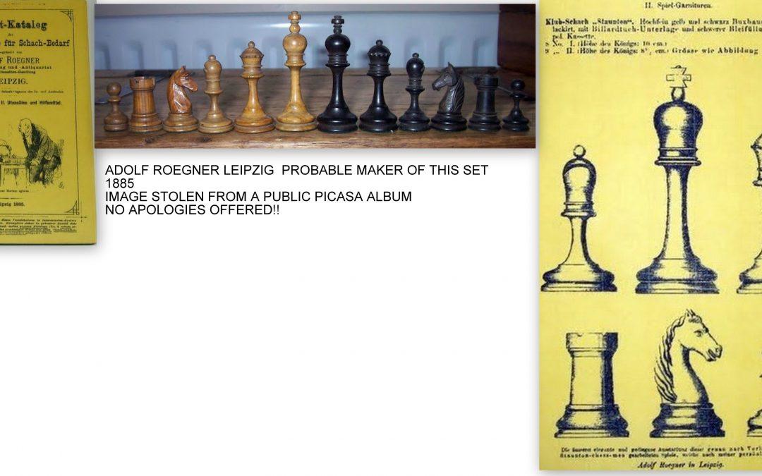 Small German Staunton chess set – late 19th century