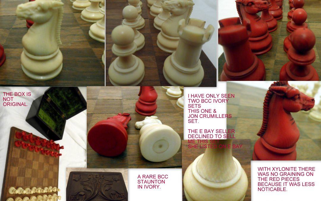 Rare late19th century British Chess Company (BCC) ivory Staunton chess set
