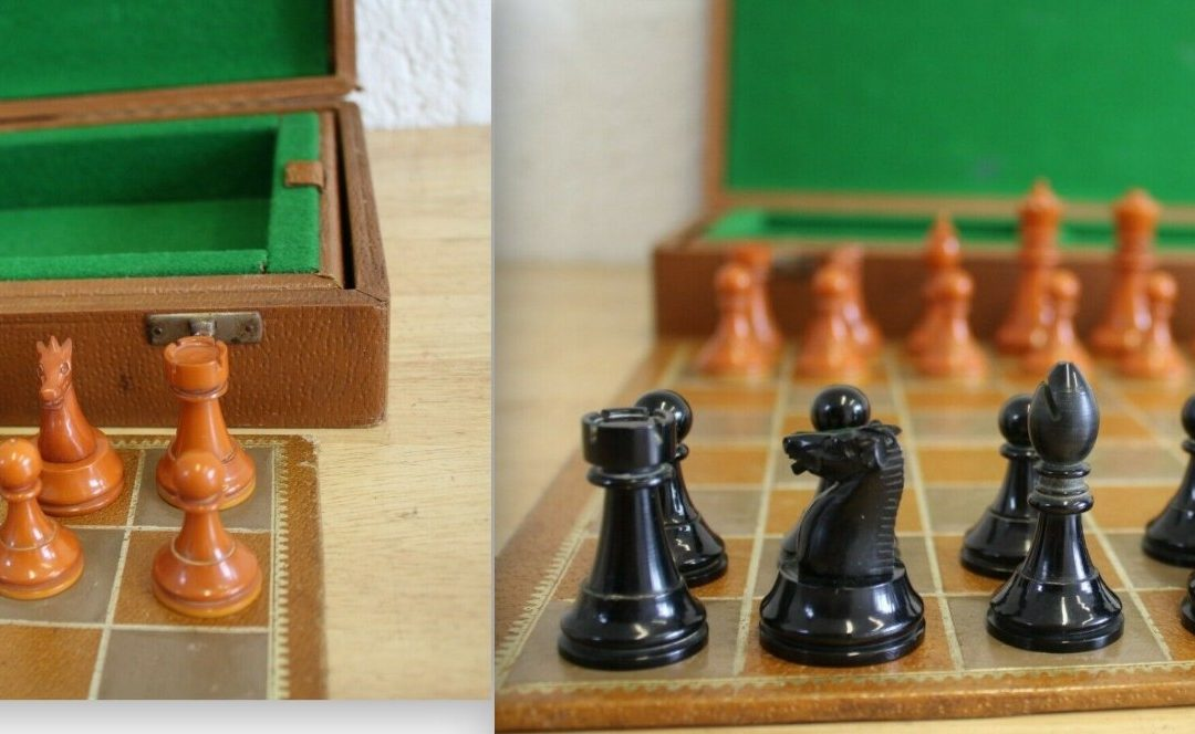 Early plastic Staunton chess set – possibly Ayres