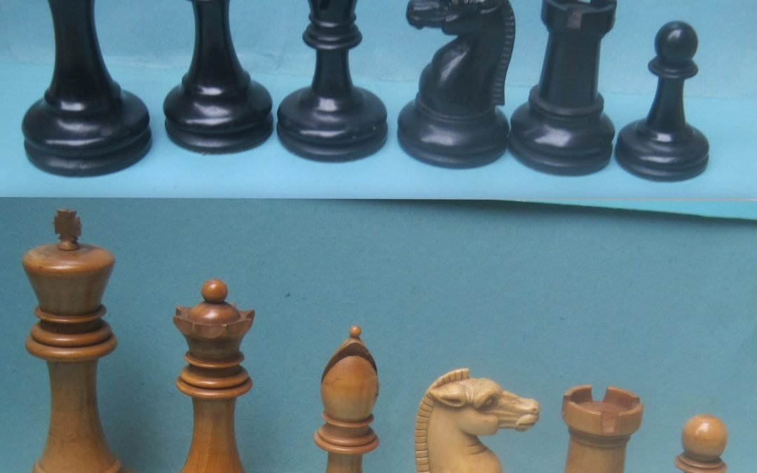 An early BCC Staunton chess set