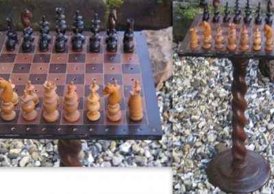A late19th century pegged Regence chess set