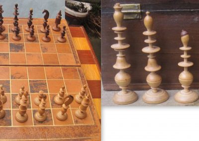 A late 19th century German toy chess set