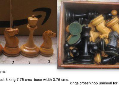 A curious B & Co. Staunton chess set